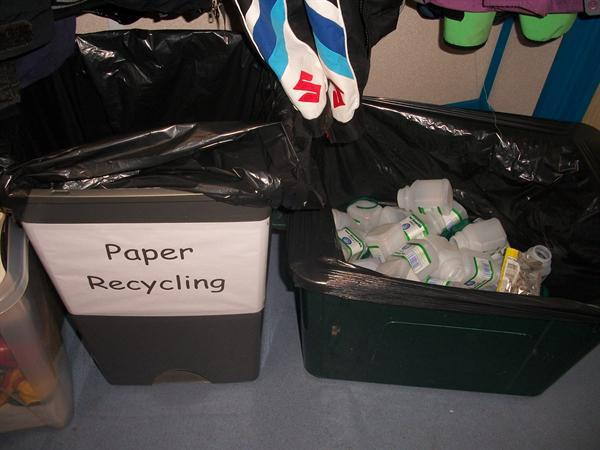 Year 2's recycling boxes