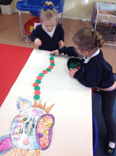 ordering the numbers on the Chinese dragon's back
