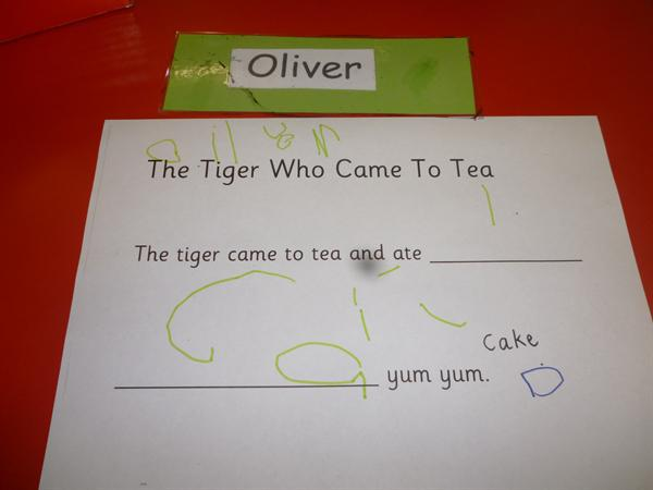 We are having a good attempt at writing our names.