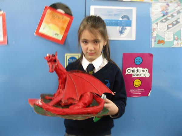 Dragons made for our school Eisteddfod.