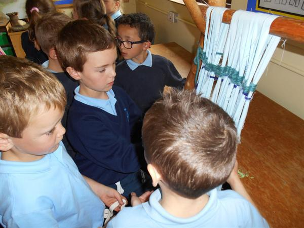 Working out how to use a loom!