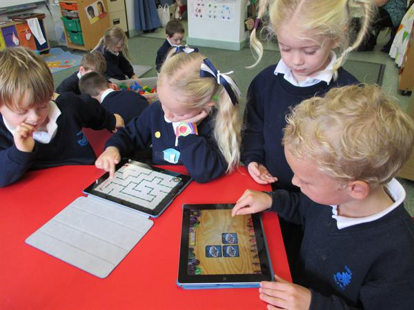 Using ipads to practise counting