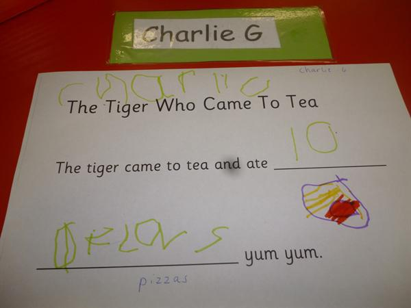 """Making a """"Tiger who came to tea""""class book!"""