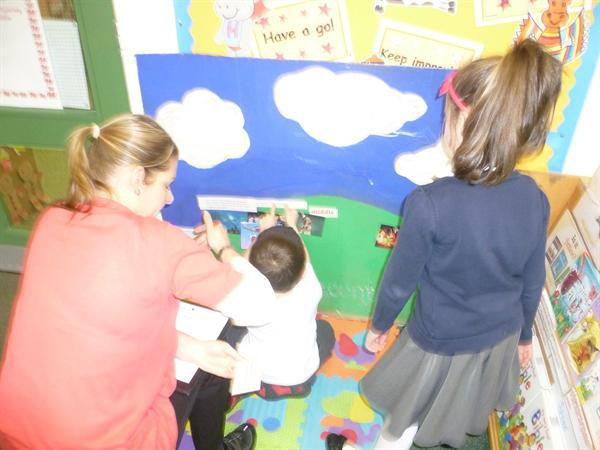 Story telling and sequencing pictures/words.