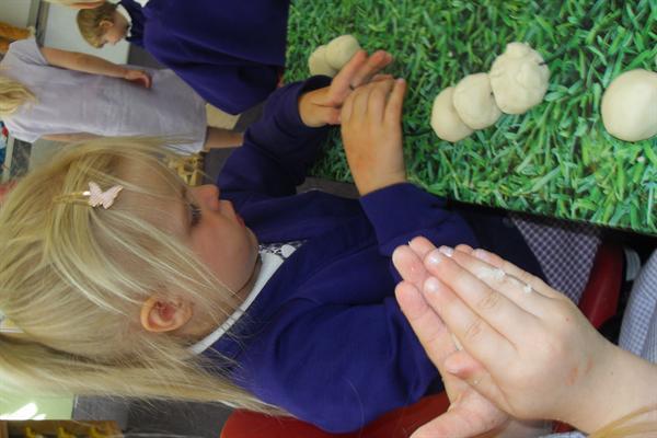 Creu lindys / Making caterpillars