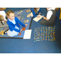 Counting in 10s.