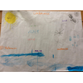 Our water cycle poster.