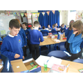 Weighing our boxes - no more than 2kg allowed