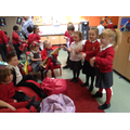 Performing a story for nursery
