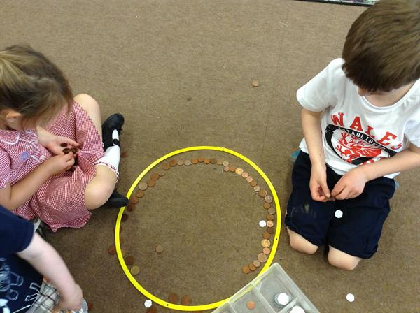 Money week- sorting coins.