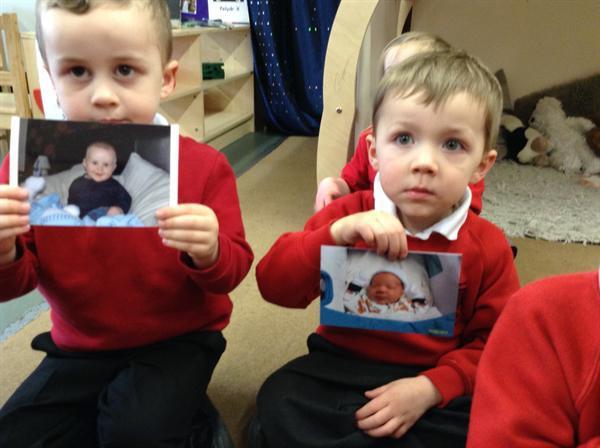 Nursery matching their baby photographs.