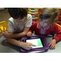Digital Leaders showing Reception how to use HWB