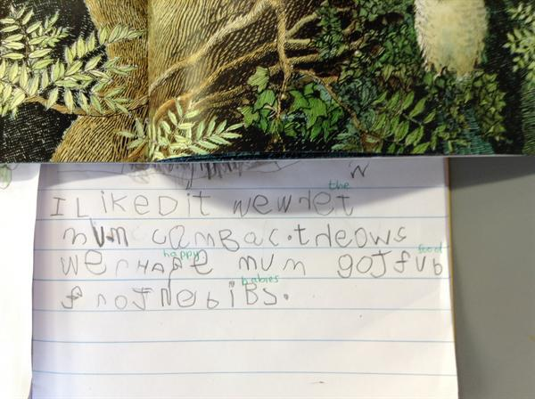 An example of independent writing.