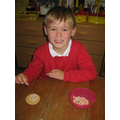 Decorating biscuits for Golden Time