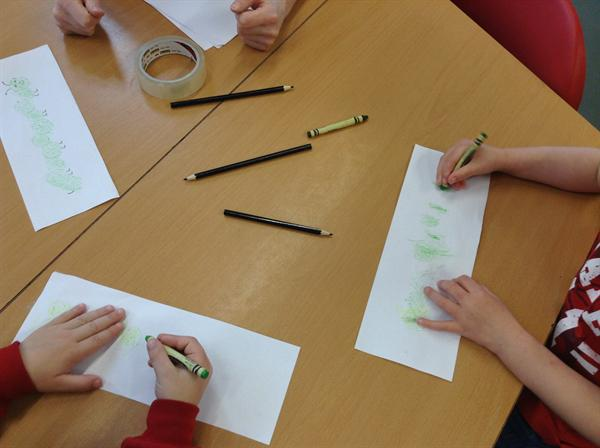 Money week- Coin rubbings.