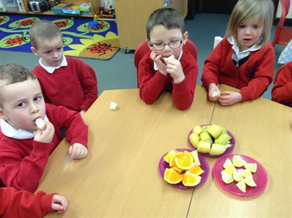 Fruit tasting-using our sense of taste and smell