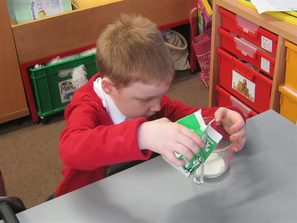 Measuring using a recipe