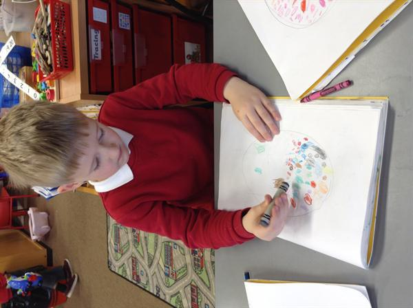 Creative Arts- Designing our Easter cards.