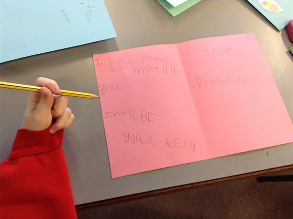 Writing a message in a card