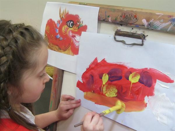 Copying a Chinese dragon
