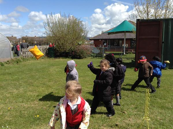 Throwing and target practise