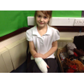 We found out how to bandage a hand!