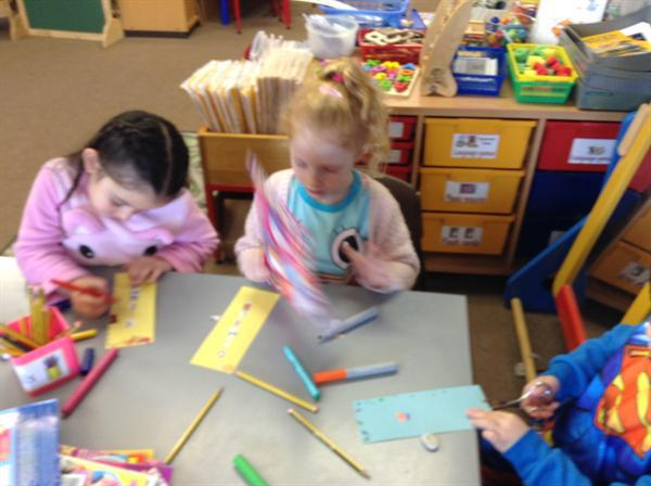 Making book marks.