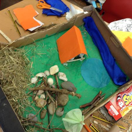 Planning and Making a model Stone Age settlement
