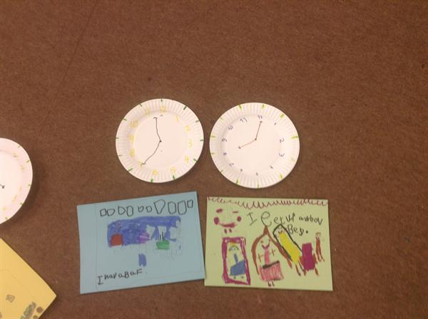 Our paper plate clocks!
