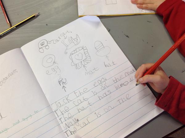 Writing our own sentences.