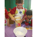 Making Welsh cakes