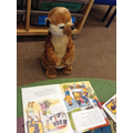 Sunny joining in reading groups!