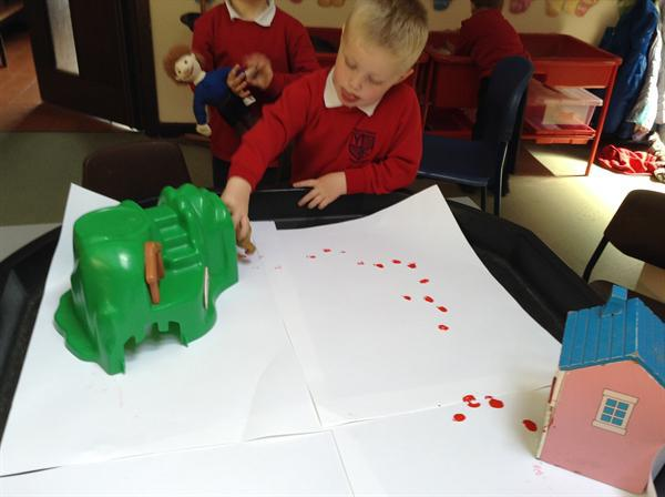 Nursery-making trails for the bear.