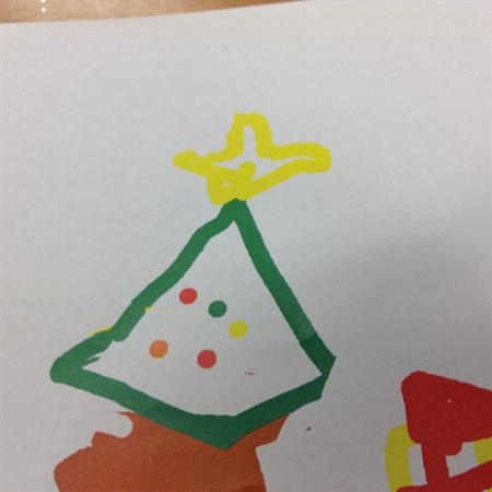 Christmas pictures drawn on the computer