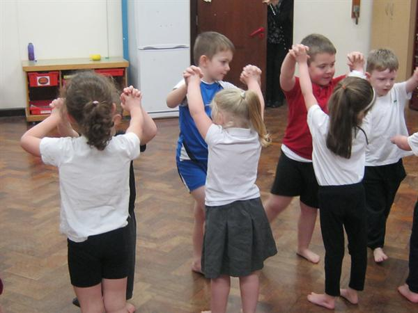 Welsh folk dancing