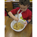 Baking Gruffalo crumble!
