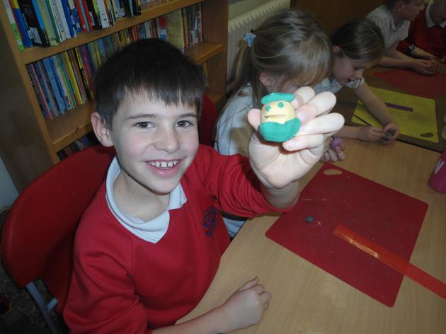 We used plasticene to create some characters
