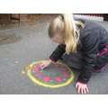 Creating rangoli patterns