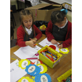 Practising spellings with rainbow writing