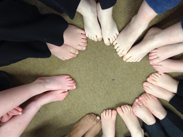 Nursery...Look at our fantastic feet!