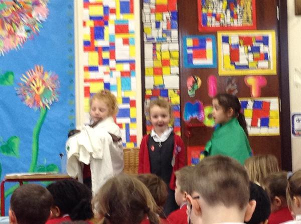 Presenting the story of Moses to the whole school