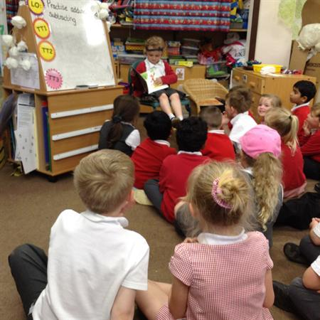 Reading to the class