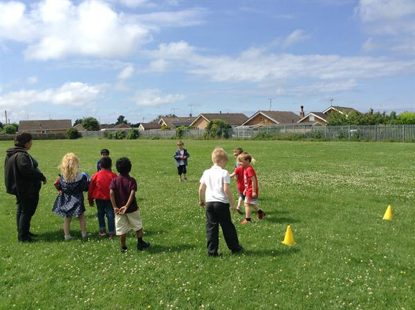 We had our own mini football match!