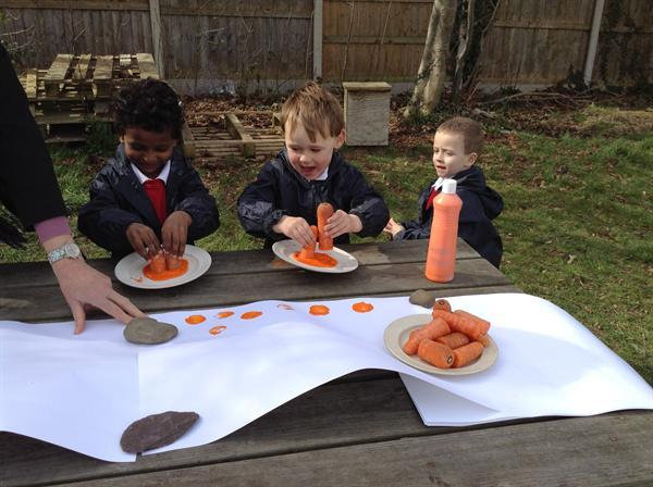 Printing trails with carrots.