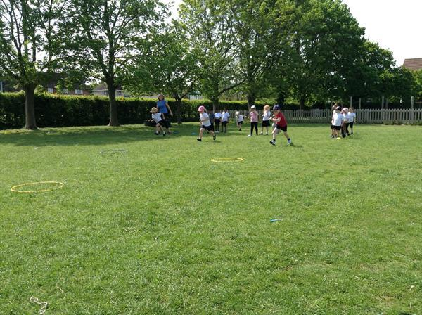 Team games- obstacle races.