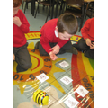 Giving directions to the beebot