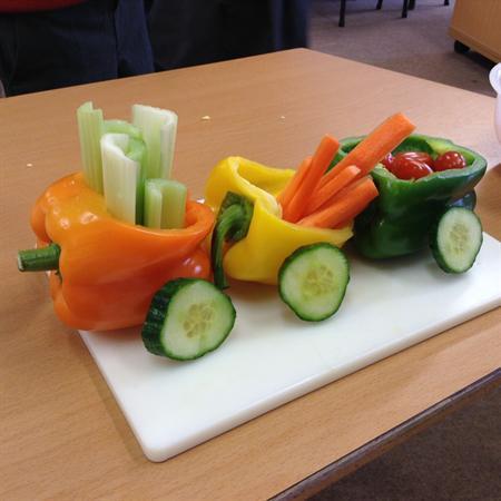 Vegetable trains and Salad veg tasting