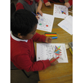 Decorating rangoli patterns