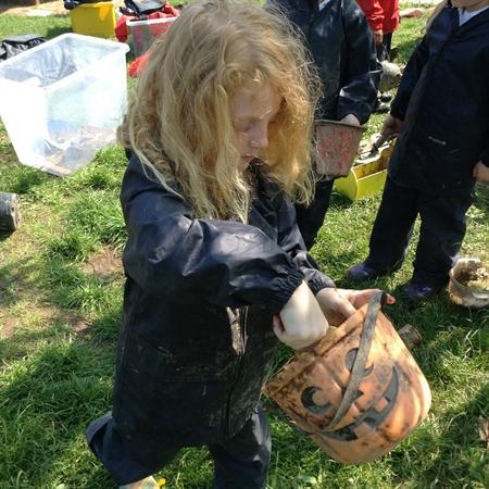 Mud kitchen fun!