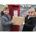 Posting our Christmas letters to Santa!